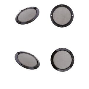 6.5inch Speaker Cover Metal Mesh Grille Protection Decorative Circle x 4Pack