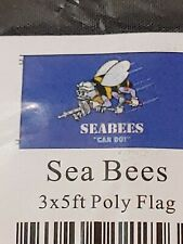 New 3x5 Sea Bees Poly Flag