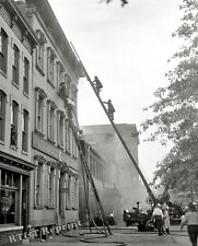 Photograph Vintage Washington DC  Fire at Thomas Somerville Plant 1926  8x10