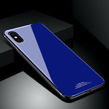 Luxury Slim Hybrid Glass Hard Back Protective Bumper Case Cover For iPhone X 8 7