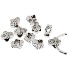 Antique Cross Beads Tibetan Silver Charms Spacer DIY Bracelet 13*10mm 10pcs