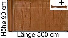 Balkon PVC Sichtschutz Zaun Balkon Blickschutz Schutzwand 90 x 500 cm braun