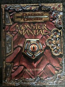 ✰SHIPS FREE/US✰  D&D ✰ MONSTER MANUAL ✰ THIRD EDITION 3.0 Dungeons & Dragons