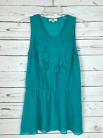Ya Los Angeles Boutique Women's M Medium Turquoise Sleeveless Spring Summer Top