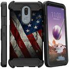 American Flag Full Body Armor Holster Belt Clip Cases For LG Phones