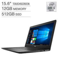"""Dell Inspiron 3593 15.6"""" FHD TOUCH i5-1035G1 12 512 SSD i3593-5544BLK-PUS Black"""