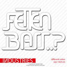 Fetten Bass Aufkleber Sticker 14x9cm | Auto Car JDM OEM Kult LOW is a LIFESTYLE