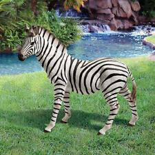 "New listing Realistic 21""H Zebra Statue Wildlife Animal Sculpture Zebras Garden Decor"