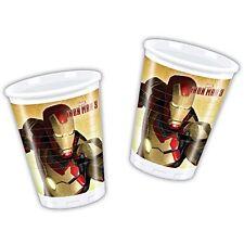 BICCHIERI PVC IRON MAN Party Compleanno Festa Marvel Avengers Supereroe 82254