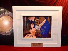 """Signed """" BEAUTY and the BEAST """" Cast Autograph, COA, UACC FRAME, Blu Ray DVD"""