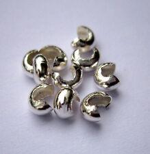 10 Stück Kaschierkugeln Ø 4 mm 925 Silber Kaschierkapseln Schmuckzubehör