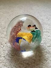 Glass Paper Weight - Fish and Sea Plants - Round - 2 3/4 inches in Diameter