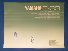 YAMAHA T-33 TUNER OWNERS MANUAL FACTORY ORIGINAL