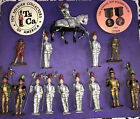 Vintage Collection Lot Of 14 Toy Soldiers & (2) Pin Back Pins