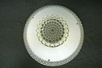Vintage Ceiling Hobnail Clear and White Glass Ceiling Light Fixture