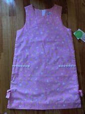 NWT Lilly Pulitzer Sz 12 Girls Firefly Pink Sleeveless Dress-Glow in Dark Fabric