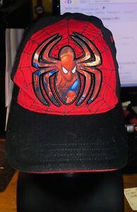 Marvel Kids Spider-Man Embroidered Red Black Web Baseball Hat Cap #A
