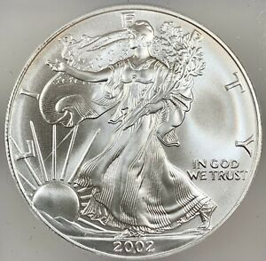 2002 United States 1oz Silver Eagle - ICG MS69