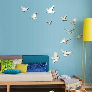 DIY Removable Home 3D Mirror Wall Stickers Decal Art Vinyl Room Decor Birds