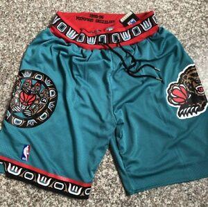 Vintage Vancouver Grizzlies Shorts Stitched S-XXL