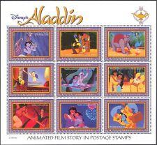 Guyana 1993 Disney/películas/Aladdin/Genie/Elefante/cine/animales Sht 9 V (d00234t)