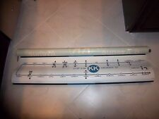 54X11 NYC SUBWAY SIGN MAP KK LINE 57 ST 6 AVE CRESCENT NY BROOKLYN ROLL SIGN ART