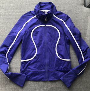 Women's sz 6 Lululemon ATHLETIC Jacket PURPLE Perfect Condition Free Ship