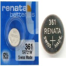 Renata 361/362 Watch Batteries x1 Swiss Made Cell Button Sil-Oxide 1.55v SR721W