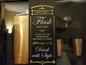 (NEW) Premium Quality Flask Gift Set (GOLD)