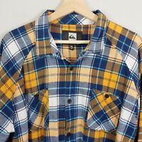 QUIKSILVER Mens Size XL Flannel Check L/S Shirt