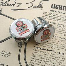 Vintage style CLAUD BUTLER yellow Handlebar End Plugs