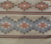 "2' x 2'8"" Antique Navajo Native American Hand-Woven 100% Wool Rug Excellent"