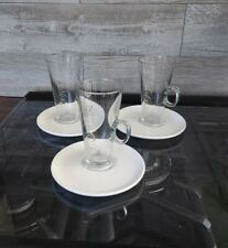 Costa latte glasses with saucers