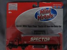 "Mini Metals #31134 - ""Spector"" White Super Power Tractor with 32' Aerovan. 1/87"
