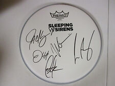 SLEEPING WITH SIRENS AUTOGRAPHED SIGNED DRUMHEAD 2 WITH EXACT SIGNING PIC PROOF