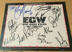 10 SIGNATURES - ECW ONE NIGHT STAND 6.12.05 - SIGNED POSTER