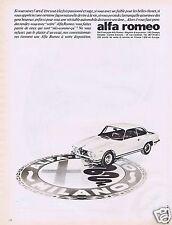 Publicité Advertising 026 1966 Alfa-Roméo automobiles