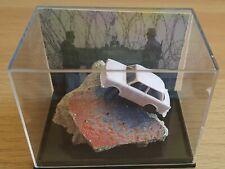 Berlin Wall Original Piece and Scale Model Trabant Car in Perspex Display + COA