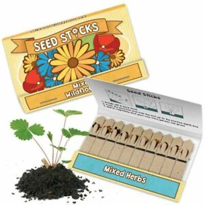 Seed Sticks Tobar Grow Your Own Mixed Herbs & Wild Flowers (1, 4 or 12 Supplied)