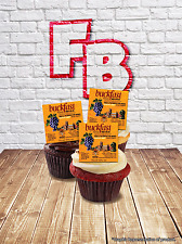 """Novelty """"Buckfast Label""""  Stand Up Cake Cupcake Topper Edible Wafer Birthday Fun"""