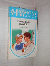 EMERGENZA D AMORE Jean Evans Harlequin Mondadori 1988 libro harmony bianca 247