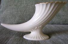 Vintage Lenox Cornucopia Horn Scalloped 24k Gold Trim