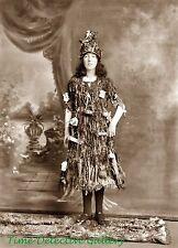 Woman Dressed as a Christmas Tree - Historic Christmas Photo Print