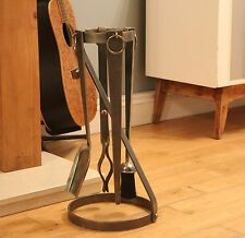 Wrought Iron Companion Set (Log burner, Log Holder, Fire Tolls)
