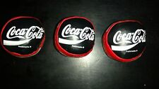 Lot of 3 Vintage 1998 Coca Cola Hacky Sack Ball New Old Stock