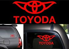 "8"" Gloss Red TOYODA Yoda Vinyl Decal Sticker For Toyota Vehicles New Free Ship"