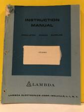 Lambda Power Supplies LPD Series Instruction Manual