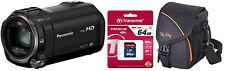 Panasonic HC-V777 Camcorder - Schwarz + Zubehörpaket ( 64GB + Tasche ) ! EG-K