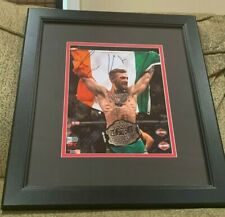 CONOR McGREGOR Autographed UFC 8x10 Photograph Framed FANATICS