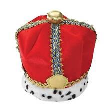 King Crown Renaissance Velvet Adult Men Costume Accessory